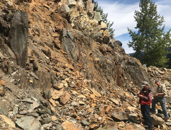 Bayhorse地质团队评估Brandywine VMS 贵金属项目
